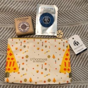 L'occitane tote and trial sizes
